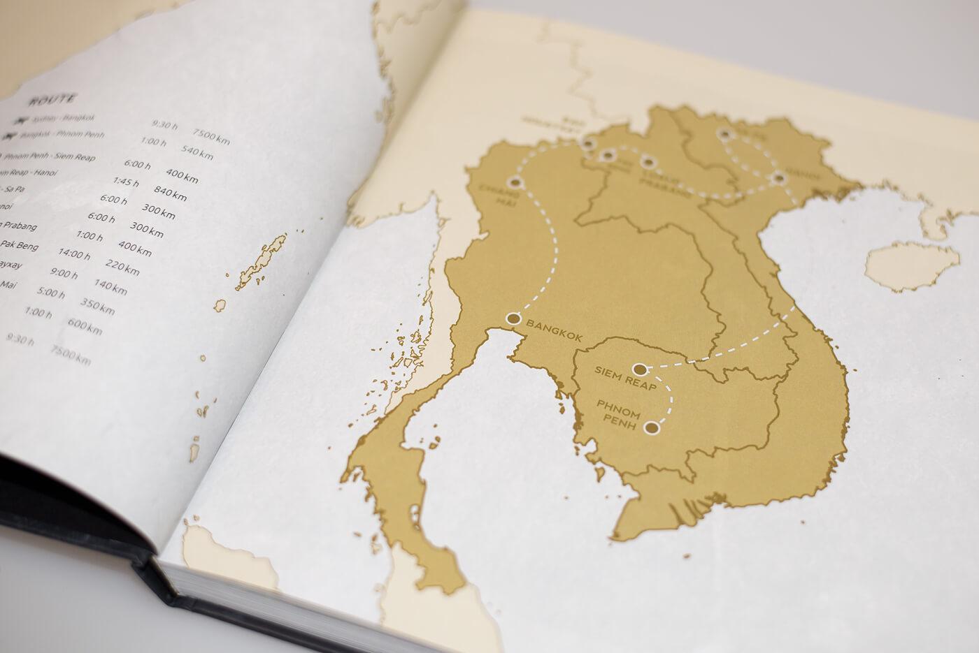 Bildband Südostasien - Die Reiseroute